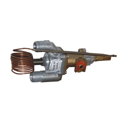 Gas oven temperature control valve