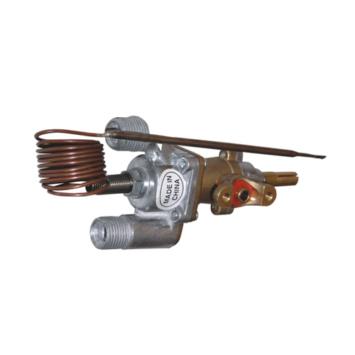 Gas oven temperature control valve